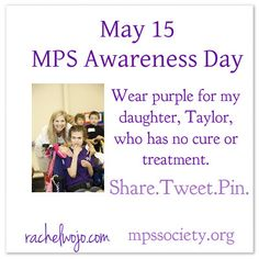May 15 is International MPS Awareness Day. Share this graphic to raise awareness and potentially preserve the functioning of undiagnosed children.