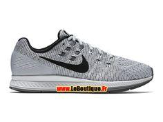 Nike Air Zoom Structure 19 - Chaussure de Nike Running Pas Cher Pour Homme Platine pur/Blanc/Gris froid/Noir 806580-002