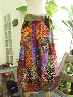 PATCHWORK Boho Gypsy pants  PW120301 by fantasyclothes on Etsy, $46.00
