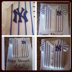 Yankees Jersey Cake - Pink Sugar Cupcakes New York Yankees Baseball, Ny Yankees, Beautiful Cakes, Amazing Cakes, Stiff Buttercream Frosting Recipe, Cupcake Cakes, Cupcakes, Sugar Cake, Pink Sugar