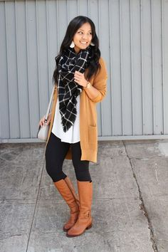 Excellent outfit that has a fun and comfortable look. Be sure to adjust pieces to fit your personality. Loving the Fall Colors! Winter Outfits For Teen Girls, Fall Outfits For Work, Casual Fall Outfits, Cool Outfits, Fashion Outfits, Dress Outfits, Fall Fashion, Autumn Casual, Cardigan Outfits
