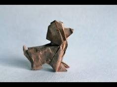 Origami dog by Patrick Kunz Tomic - YouTube