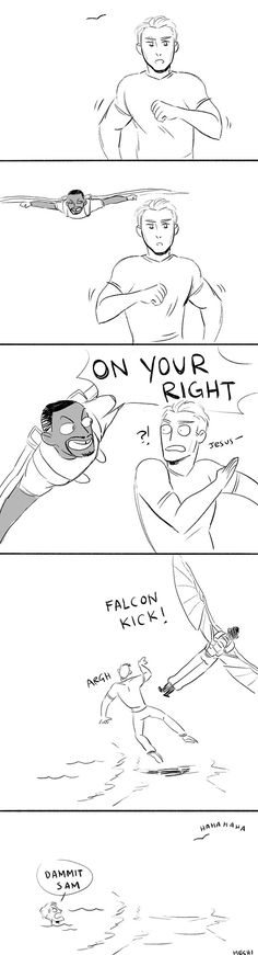 Falcon gets his revenge on Cap!