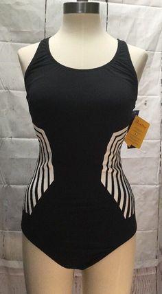 59820a8c8e Gottex Woman's Sz 12 Black UV Protect 1 PC Swimsuit Quick Dry Profile Sport  for sale online | eBay