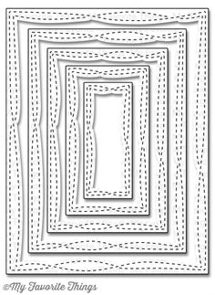 Die-namics Wonky Stitched Rectangle STAX