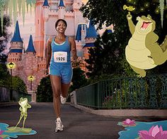 Disney Princess Half Marathon winds through the Magic Kingdom to the finish line where your tiara-shaped medal awaits.... bucket list. I WANT TO DO THIS