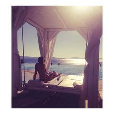 """""""The big blue. Leave me here."""" Our lovely guest Carapeeney captures her weekend at Saint John Hotel Resort Mykonos. Picture yourself here right now? Massage Center, Spa Center, Mykonos Greece, Saint John, Wellness Spa, Hotel Spa, Resort Spa, Big, Outdoor Decor"""
