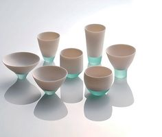 By fusing of porcelain and glass, Misa Tanaka has created some vessels called, Shizukana Sora (Quiet Sky), taking second place in this years Takaoka Crafts Competition in Japan.  Shizukana Sora by Misa Tanaka, Second Prize at Takaoka Crafts Competition