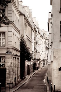 Paris Photography - Street Scene, Paris decor, Buildings, Architectural Fine Art Photograph, Urban Home Decor
