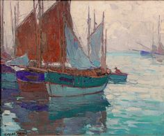 """French Fishing Boats,"" Edgar Payne"