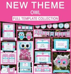 afa6e732c8028 Instantly download these Owl Party printables. Includes Invitations    Decorations. Personalize at home
