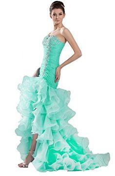 JAEDEN Long Strapless Mermaid Organza Prom Dresses Wedding Evening Gowns Turquoise US2 JAEDEN http://www.amazon.com/dp/B00SIYB4K0/ref=cm_sw_r_pi_dp_nnYovb0JR8T1F