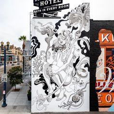 "StreetArtNews auf Instagram: ""Something new from James Jean in Long Beach for Pow! Wow! #streetart #streetartnews @jamesjeanart @powwowlongbeach  @bshigeta"""