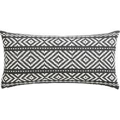 "woven isle 23""x11"" pillow  | CB2"