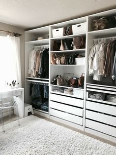 Walk in closet ideas / luxury closets / wardrobe goals #closet #closetgoals #wardrobe #dreamcloset #interiordecor #interiorgoals / Pinterest: fromluxewithlove