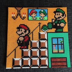 Brothers will be brothers - Super Mario hama perler bead art by operledittemarie