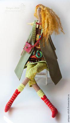 Купить Ангел Мари - оливковый, коричневый, тильда ангел, тильда кукла, интерьерная кукла, подарок ♡