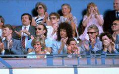13 July 1985: Princess Diana and Prince Charles are pictured at Live Aid, along with Bob Geldof, David Bowie, Brian May and Roger Taylor