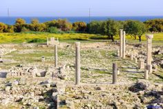 Cyprus Lemesos. Amathous Archaeological Site. One of the most important city - kingdoms of ancient Cyprus, Amathous is situated about 10 kilometres east of Lemesos (Limassol).