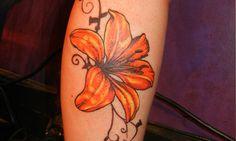 Tattoo tiger lily flower tattoos amazing tiger lily flower t Cool Tribal Tattoos, Tribal Tattoo Designs, Tattoo Sleeve Designs, Flower Tattoo Designs, Cute Tattoos, Leg Tattoos, Sweet Tattoos, Dogwood Flower Tattoos, Lily Flower Tattoos