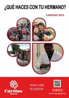 """Cartel Campaña de Caridad 2015 """"¿QUÉ HACES CON TU HERMANO?"""