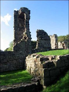 Ceolfrith, saint and abbot of the monastery of Wearmouth-Jarrow in Northumbria from 690 to 716. Ceolfrith was Bede's early mentor, and during his rule the size and wealth of the monastery increased greatly and the number of books in the library doubled. Most famously, Ceolfrith commissioned three large Bibles from his own scriptoria: one for Jarrow, one for Wearmouth and the third for the Pope. Image: Ruins of St Paul's Abbey, Jarrow, dedicated in 685 (image courtesy of BBC). Carmen Sandiego, Medieval Manuscript, Anglo Saxon, Dark Ages, British Library, England Uk, Ancient Greece, British Isles, Windmill