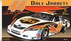 Dale Jarrett JARRETT NATION Giant 3'x5' NASCAR Flag - #44 UPS Racing Toyota Camry -available at www.sportsposterwarehouse.com