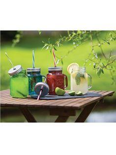 Kitchen Craft Homemade Set of 6 Glass Mason Jars - Clear | very.co.uk
