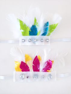 DIY Duct Tape Feather Headdress-good idea for any Native American/Indian Lore Girl Scout badge, or playing the past junior badge