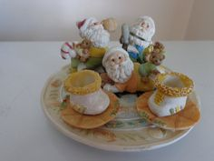 Vintage Miniature Santa Claus Christmas Tea Set by TessesAttic, $16.00