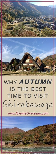 Why Autumn Is The Best Time To Visit Shirakawago in Japan - Shirakawago is different with each season, but autumn is the most stunning because the entire mountains are painted orange and red with autumn leaves. Here's why you should visit Shirakawago in autumn, plus a photo essay (taken on iPhone) to help convince you. Click for more! #japan #japantravel #shirakawago #iphonephotography