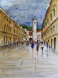 Mes petites aquarelles: Dubrovnik-Croatie