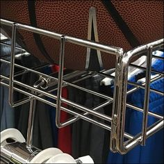 Spanning the width of this Twin-Rail Apparel Rack a Rectangular Bin for Basketballs creates enough space to cross sell with the sports outfits. Basketball Game Tickets, Basketball Goals, Basketball Uniforms, Basketball Shoes, Rules For Kids, Basketball Floor, Shopping, Youth