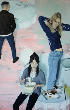 """The British artist uses color like David Hockney and calls his self-portraits """"selfies. David Hockney, Selfies, Camberwell College Of Arts, National Portrait Gallery, Fashion Painting, Figure Painting, Art Inspo, Samara, Contemporary Art"""