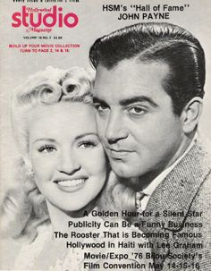 Betty Grable and John Payne classic Hollywood movie magazine cover Classic Comedy Movies, Suspense Movies, Classic Comedies, Classic Movie Stars, Golden Age Of Hollywood, Classic Hollywood, Hollywood Stars, Old Movies, Vintage Movies