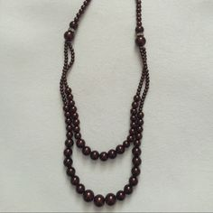 Brown Pearls Chic costume jewelry. Medium length chain. Small rhinestone clusters. Great for a professional, feminine look! Jewelry Necklaces