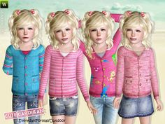Cute Cardigan for Girls  Found in TSR Category 'Sims 3 Female Clothing'
