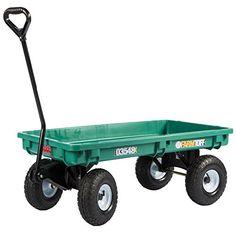 Millside PolyDeck Garden Wagon With Flat Free Tires Green U003eu003eu003e For More  Information,