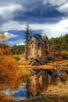 St. Malo's chapel in Estes Park, CO.  I'm not one for religion, but this church…