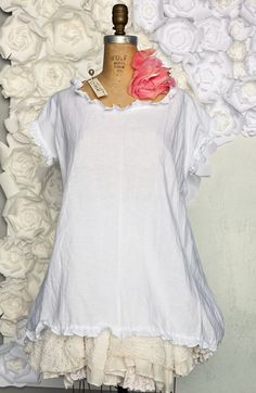 """Simple Linen Tee!! I want to make a """"slip"""" to go under a few of my tops~~"""