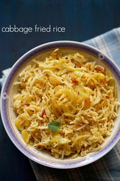 lunch ideas cabbage fried rice recipe – mildly spiced indian style cabbage fried rice  ‪#‎gobi‬ ‪#‎friedrice‬