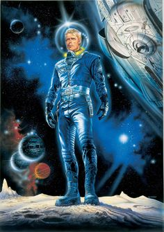 "Renato Casaro — Perry Rhodan in "" Galornenanzug"" by Karl-Herbert Scheer, 1998 Sci Fi Kunst, Science Fiction Kunst, Space Hero, Space Age, Doctor Who, Character Art, Character Design, Character Concept, Perry Rhodan"