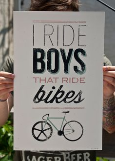 I Ride Boys That Ride Bikes. via Etsy.