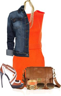 """Little Orange Dress"" by partywithgatsby on Polyvore"