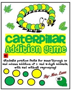 Caterpillar Addition Game! (For Elementary)
