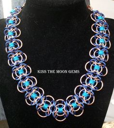 Chainmaille Butterfly Weave Necklace by kissthemoongems on Etsy, $62.00