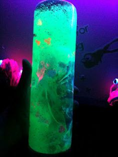 Oooey Gooey black light sensory bottles
