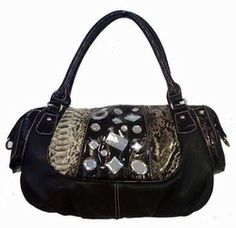 Black Rhinestone Handbag