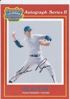 1991 Jumbo California Sunflower Seeds Nolan Ryan Texas Rangers Card No. 20 of 24 Baseball Cards For Sale, Nolan Ryan, Sunflower Seeds, Texas Rangers, Mint, California, Sports, Hs Sports, Sport