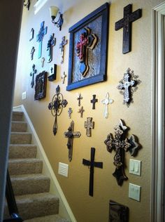 I have always wanted to do this, collect crosses and display them in certain areas of the house.....